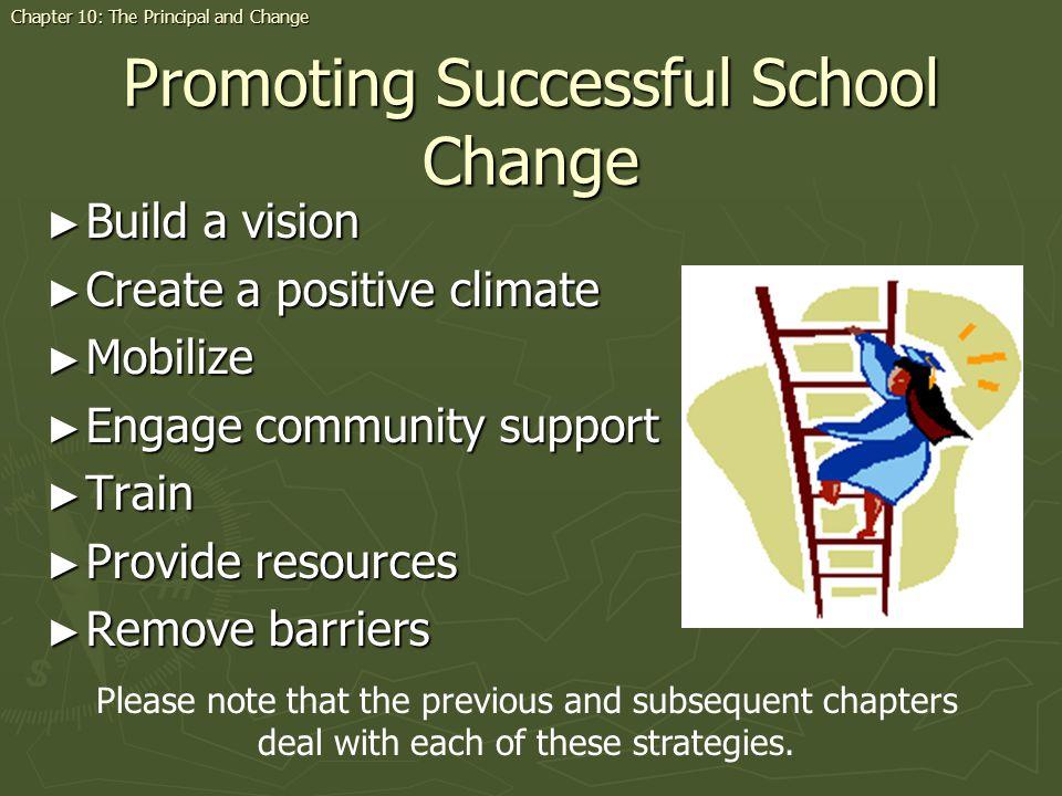 Promoting Successful School Change