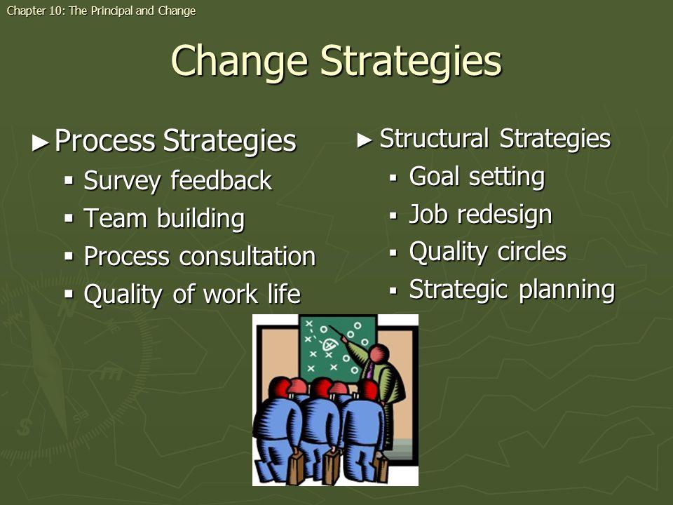 Change Strategies Process Strategies Structural Strategies
