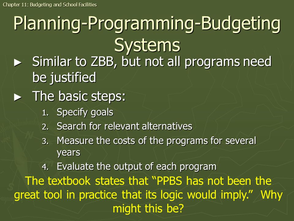 Planning-Programming-Budgeting Systems
