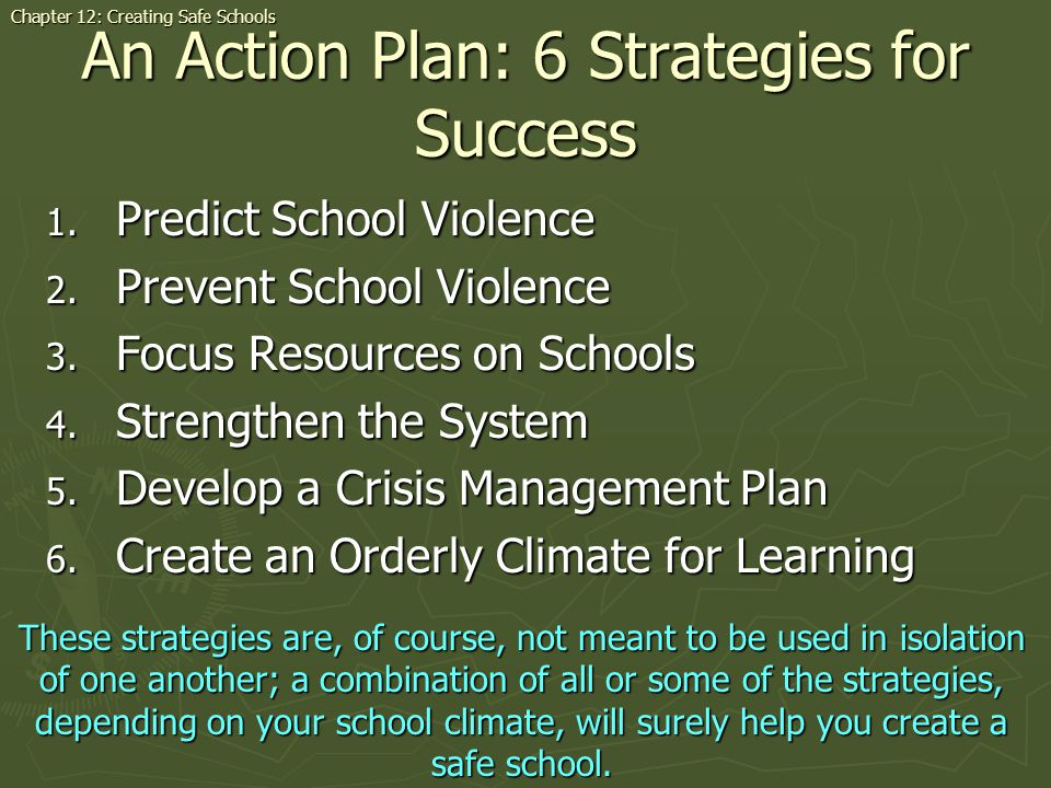 An Action Plan: 6 Strategies for Success
