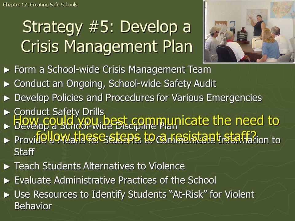 Strategy #5: Develop a Crisis Management Plan