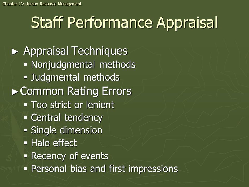 Staff Performance Appraisal
