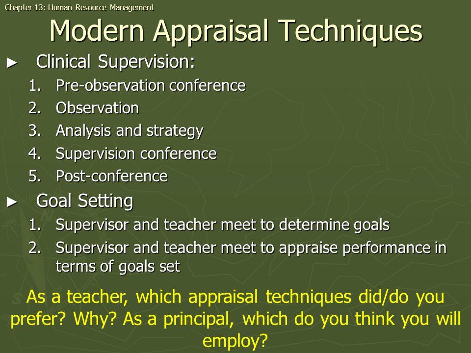Modern Appraisal Techniques
