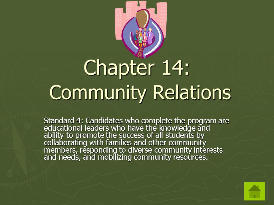 Chapter 14: Community Relations
