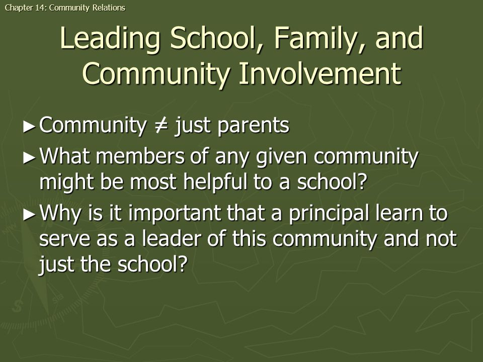Leading School, Family, and Community Involvement