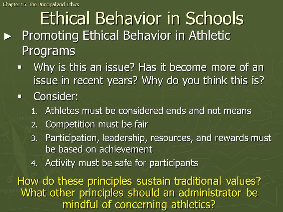 Ethical Behavior in Schools