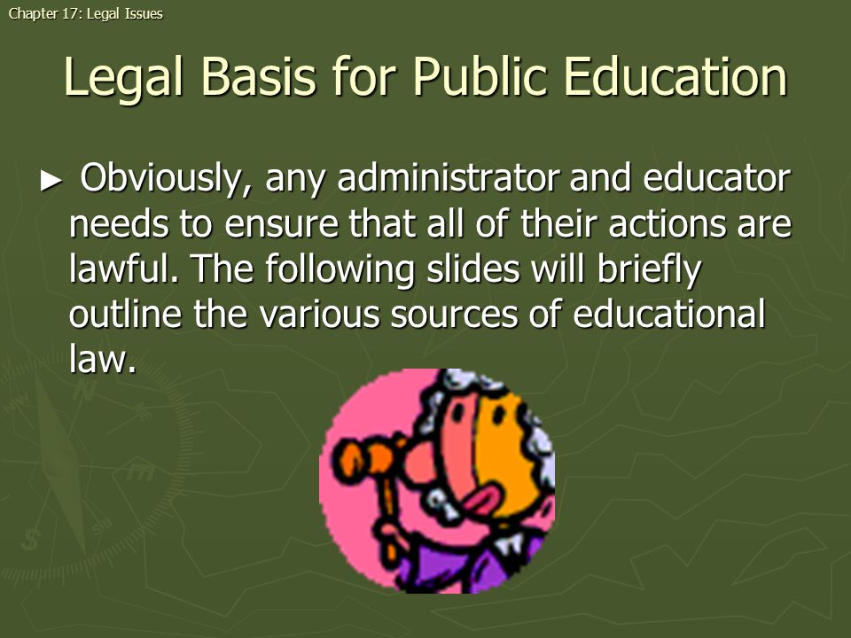 Legal Basis for Public Education