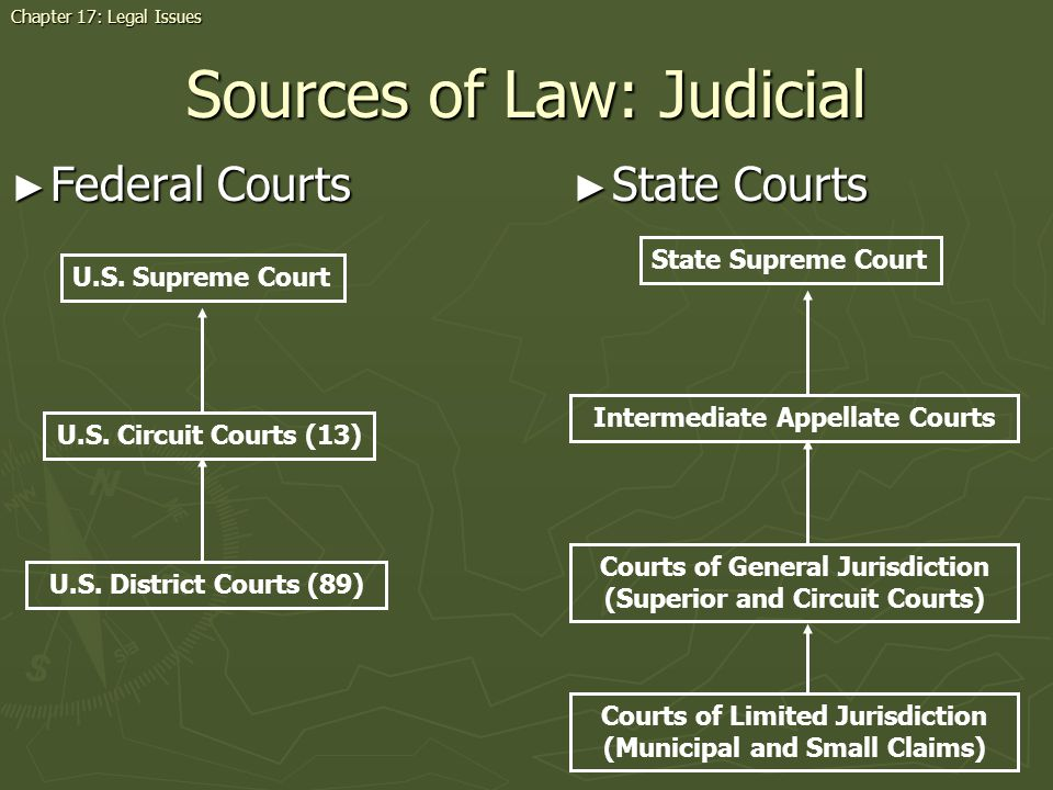 Sources of Law: Judicial