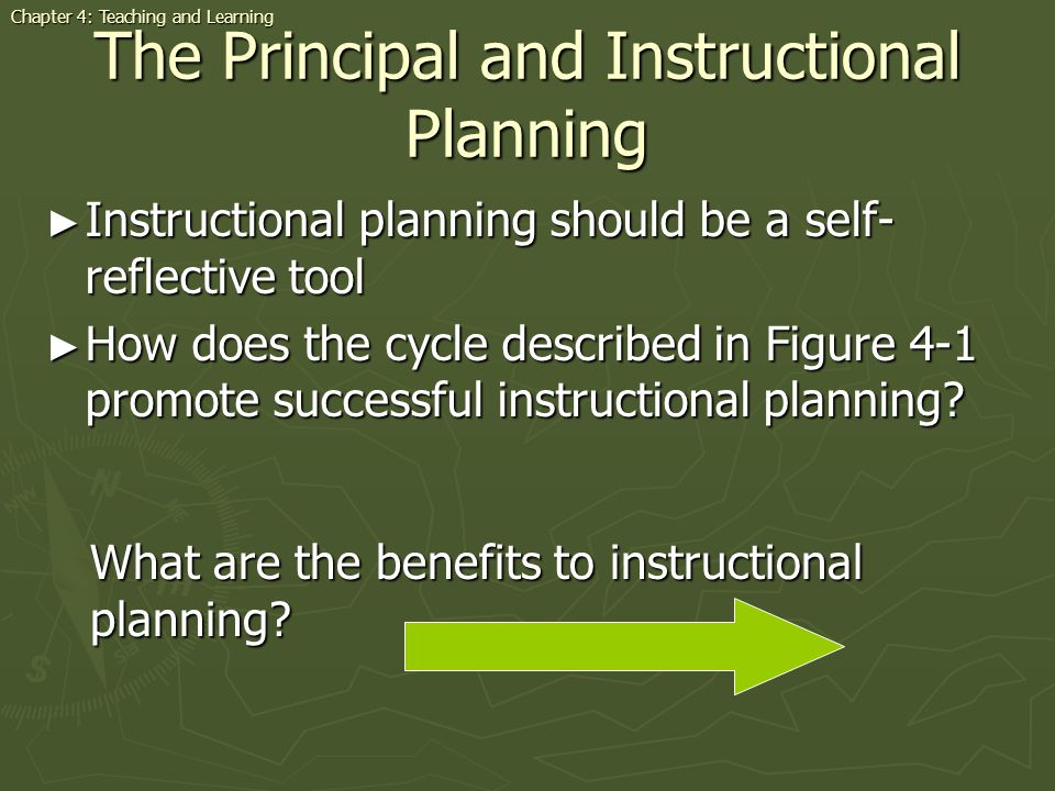 The Principal and Instructional Planning