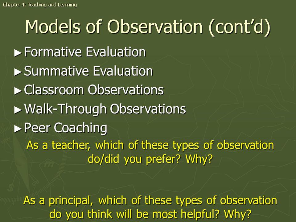 Models of Observation (cont'd)