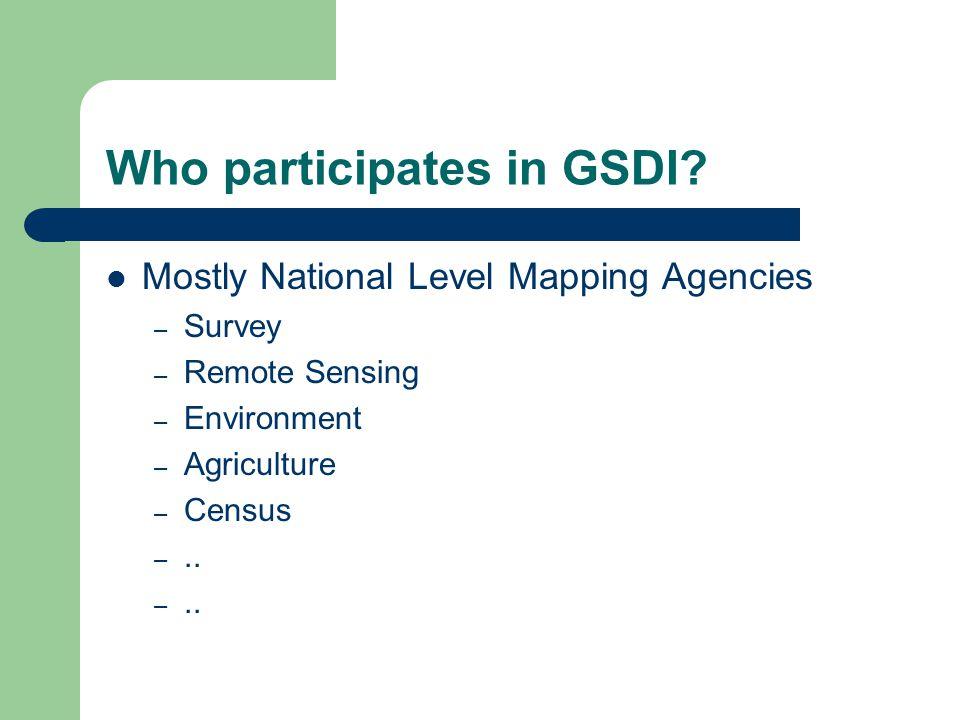 Who participates in GSDI
