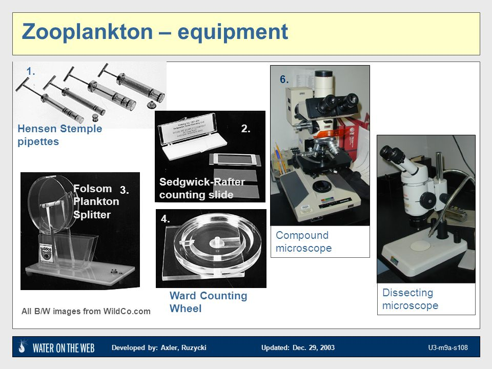 Zooplankton – equipment