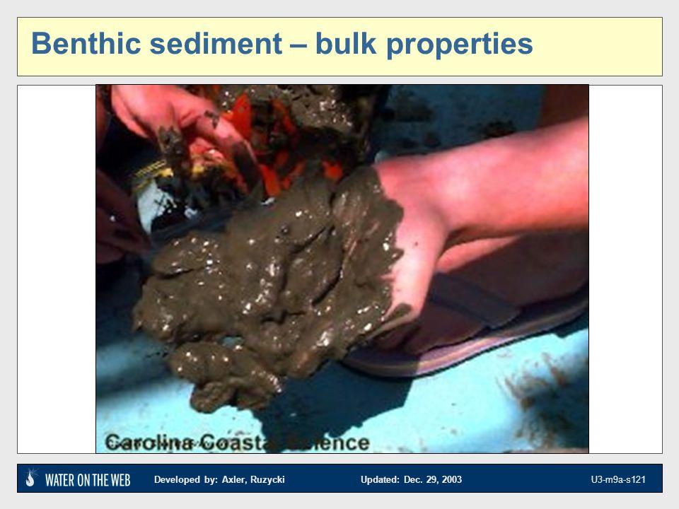 Benthic sediment – bulk properties