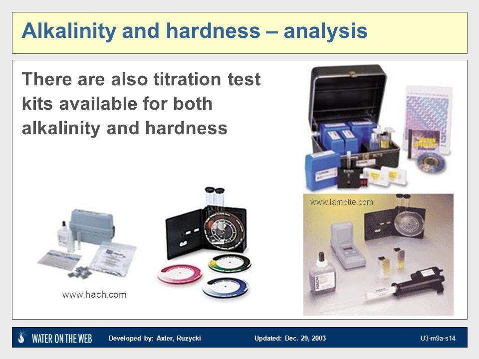 Alkalinity and hardness – analysis