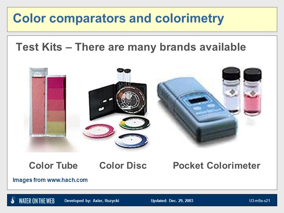 Color comparators and colorimetry