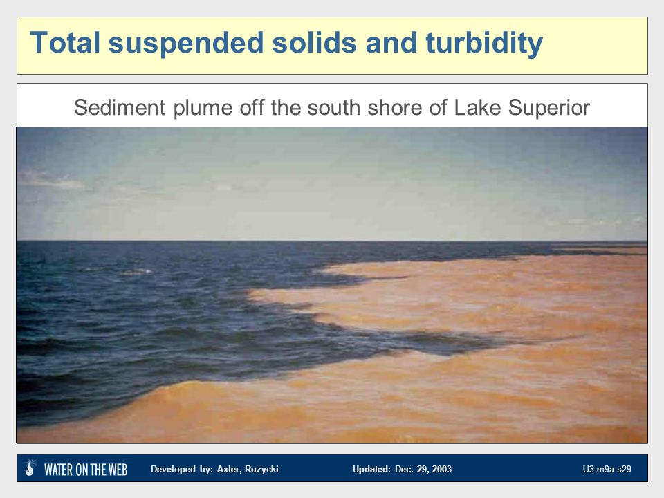 Total suspended solids and turbidity