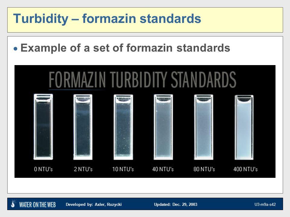 Turbidity – formazin standards