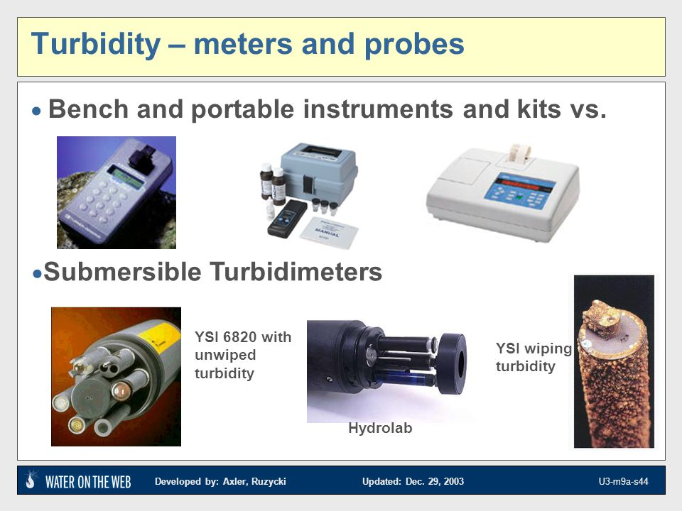 Turbidity – meters and probes