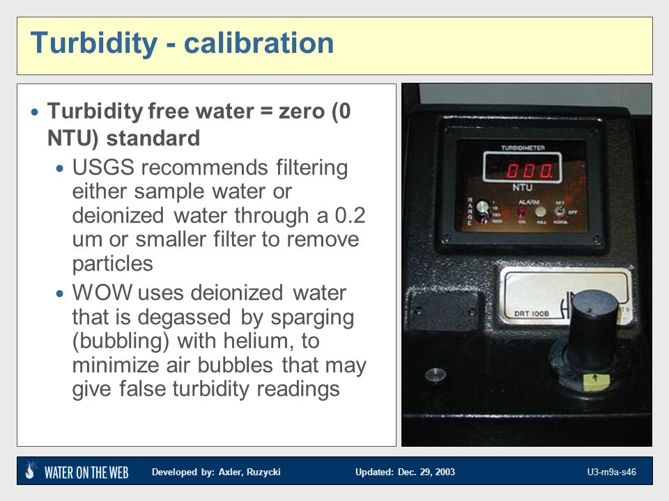 Turbidity - calibration