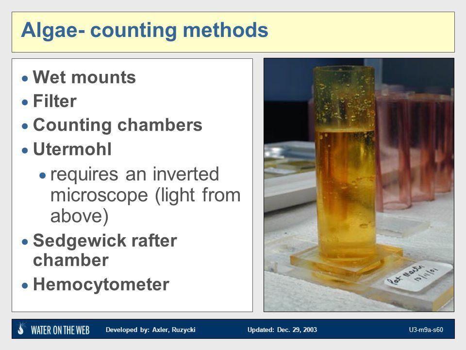 Algae- counting methods