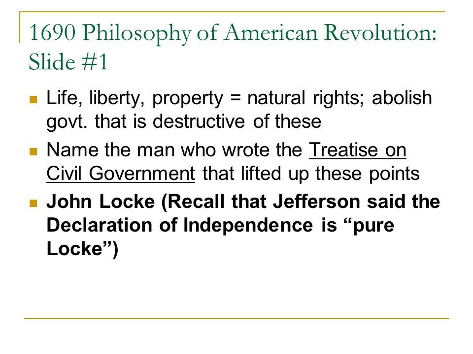 1690 Philosophy of American Revolution: Slide #1