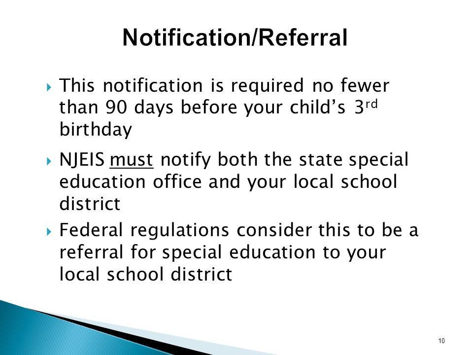 Notification/Referral