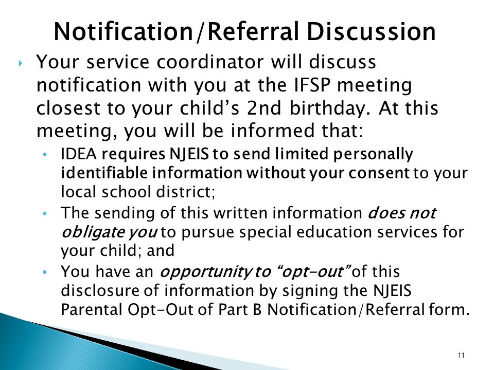 Notification/Referral Discussion