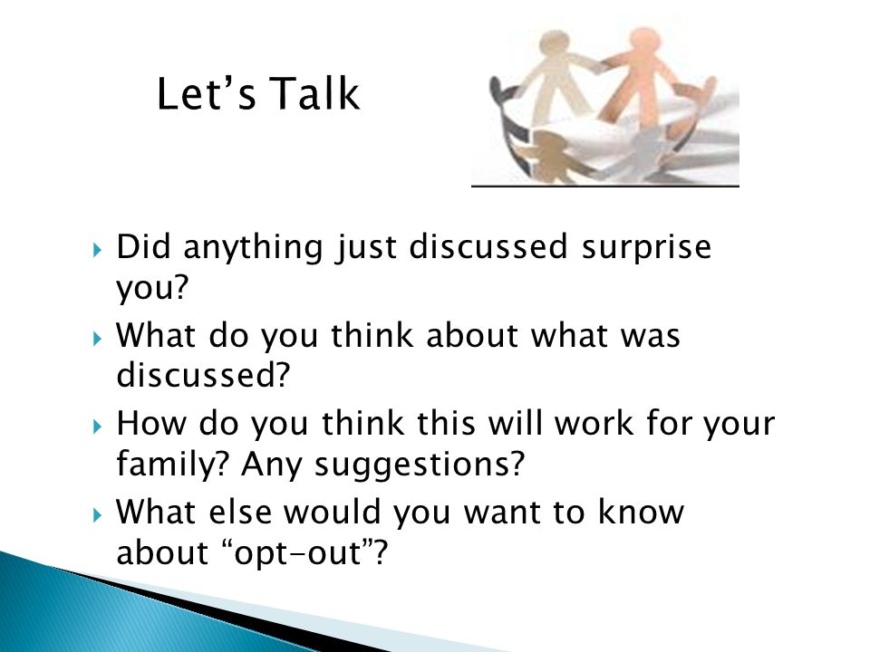 Let's Talk Did anything just discussed surprise you