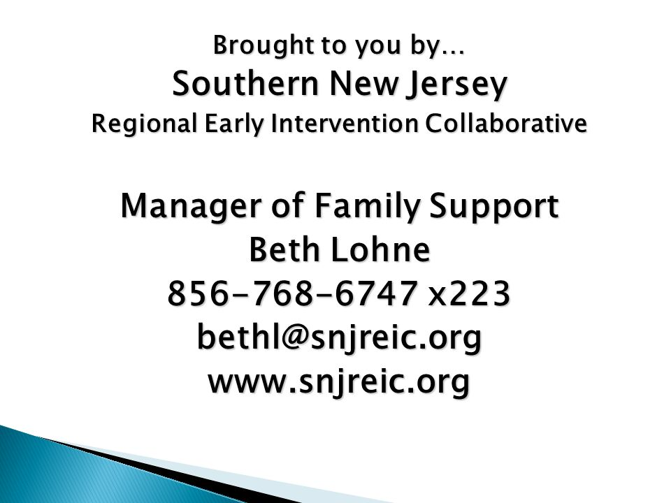 Regional Early Intervention Collaborative Manager of Family Support