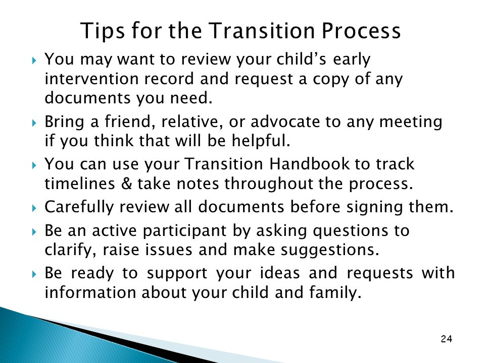 Tips for the Transition Process