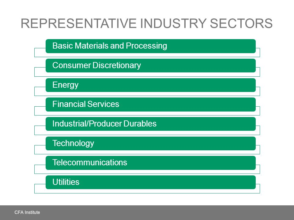 Representative Industry Sectors