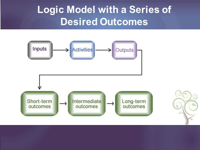 Logic Model with a Series of Desired Outcomes