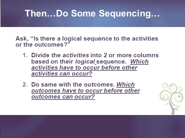 Then…Do Some Sequencing…