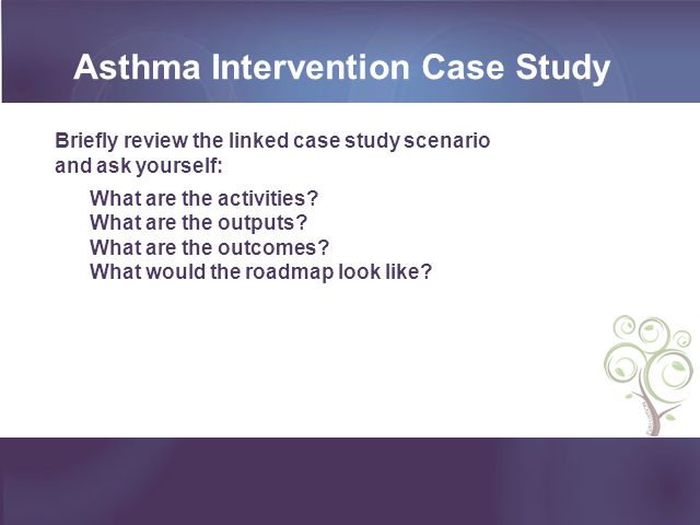 Asthma Intervention Case Study