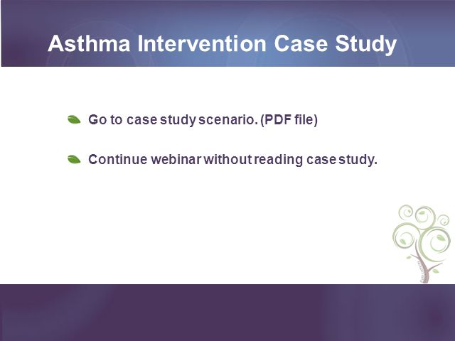 asthma case study pharmacy Patient story - anne pedley anne was diagnosed with asthma since she was 14 around eight years ago she started noticing a decline in her lung function and.
