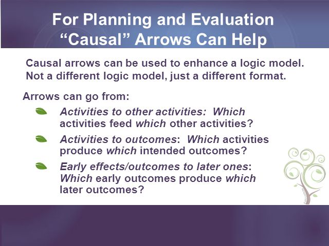 For Planning and Evaluation Causal Arrows Can Help