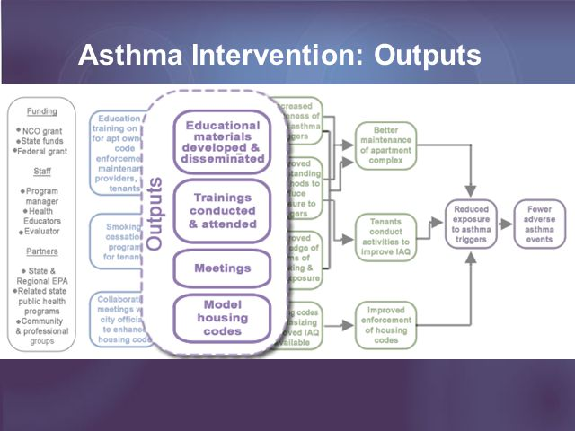 Asthma Intervention: Outputs