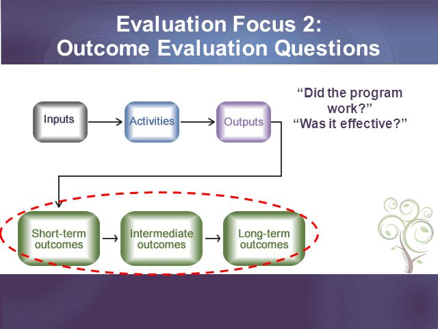 Outcome Evaluation Questions