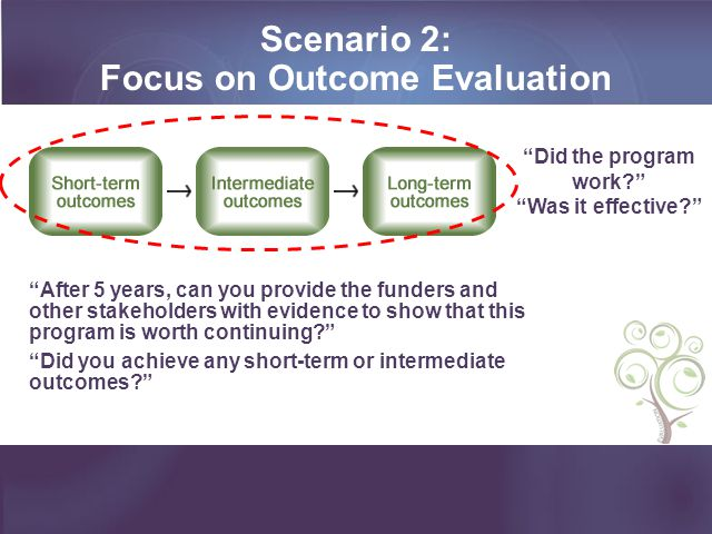 Focus on Outcome Evaluation