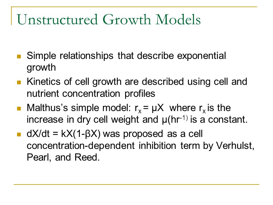 Unstructured Growth Models