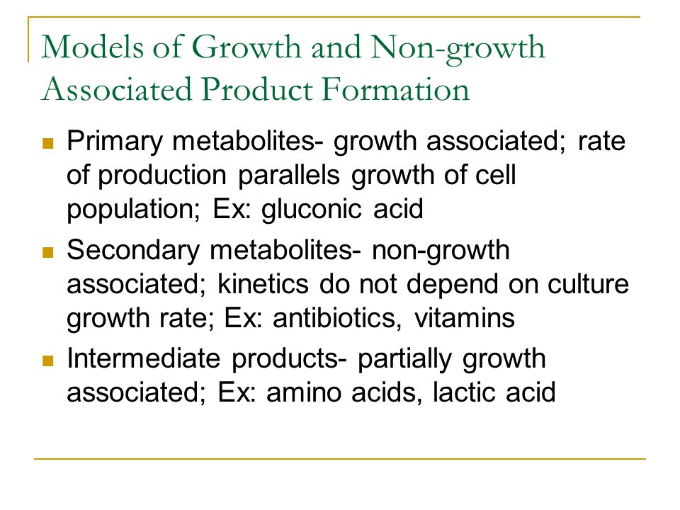 Models of Growth and Non-growth Associated Product Formation