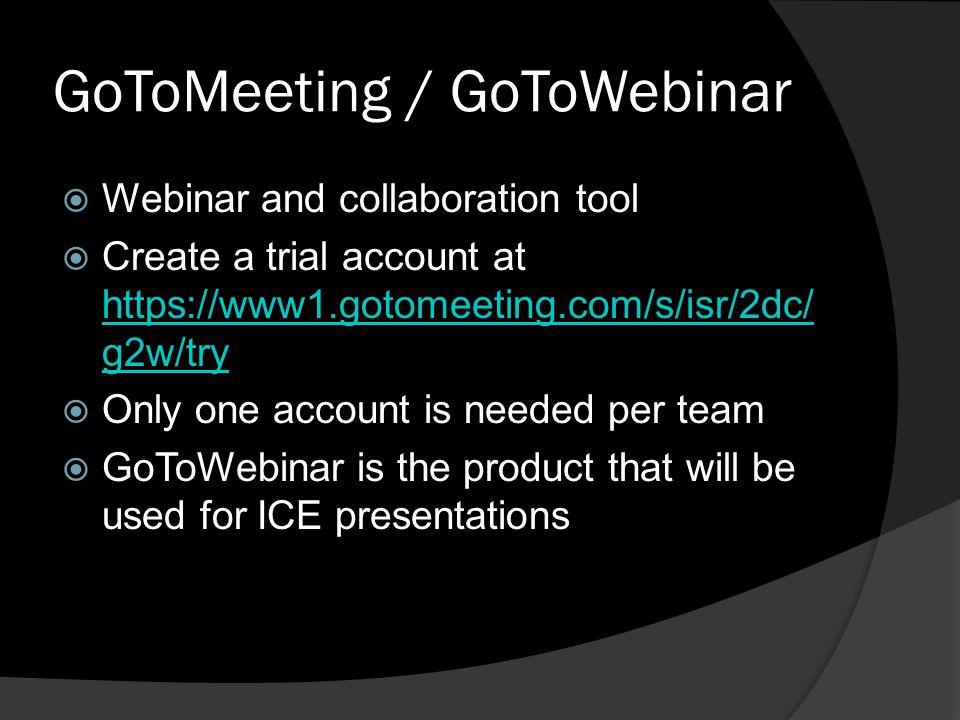 GoToMeeting / GoToWebinar