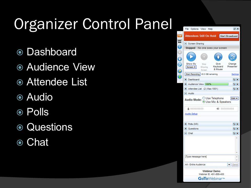 Organizer Control Panel