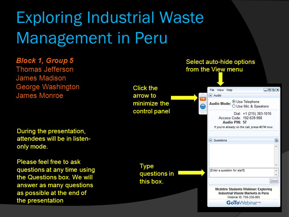 Exploring Industrial Waste Management in Peru