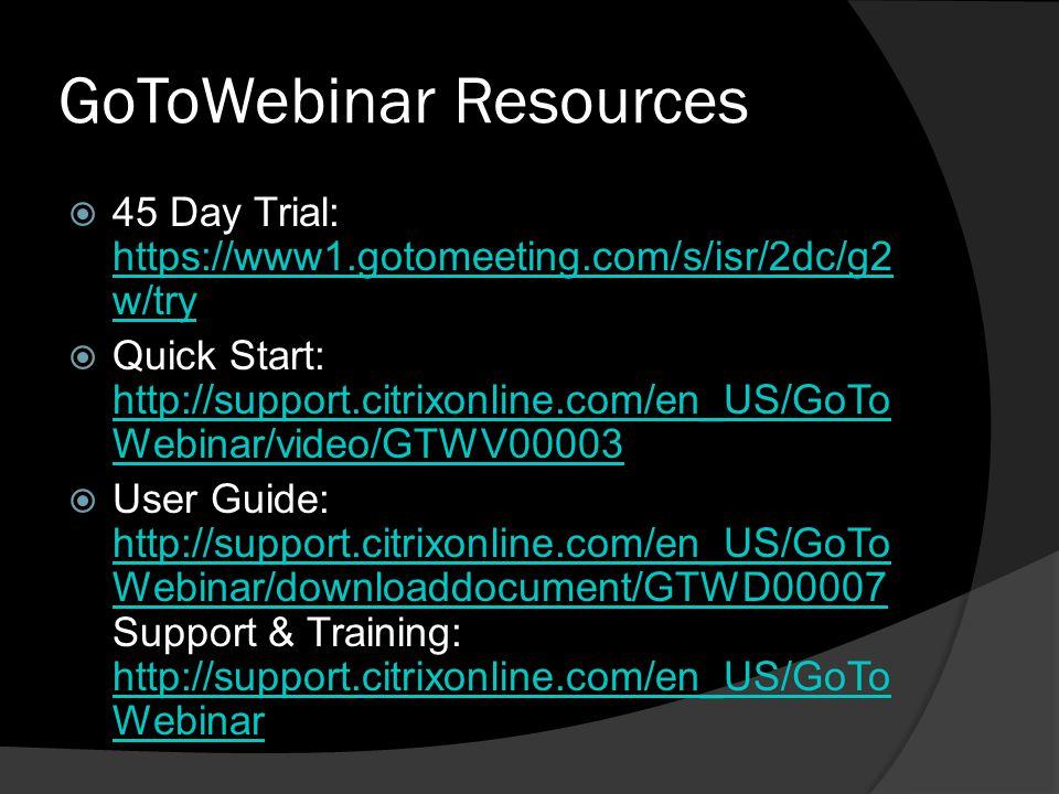 GoToWebinar Resources