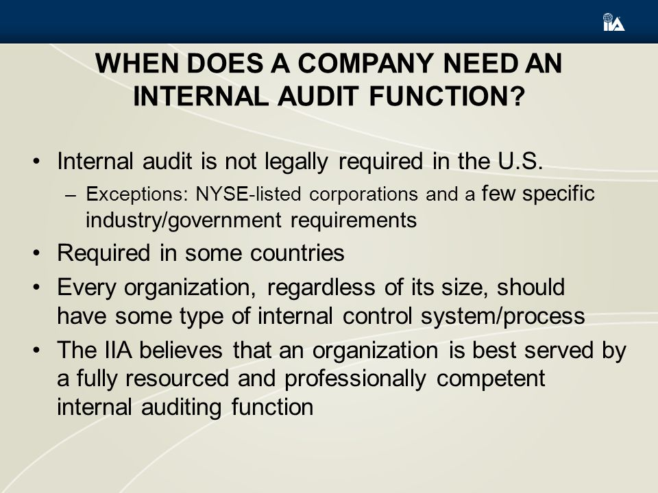 When Does a Company Need an Internal Audit Function