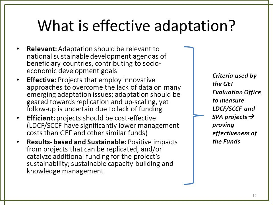 What is effective adaptation