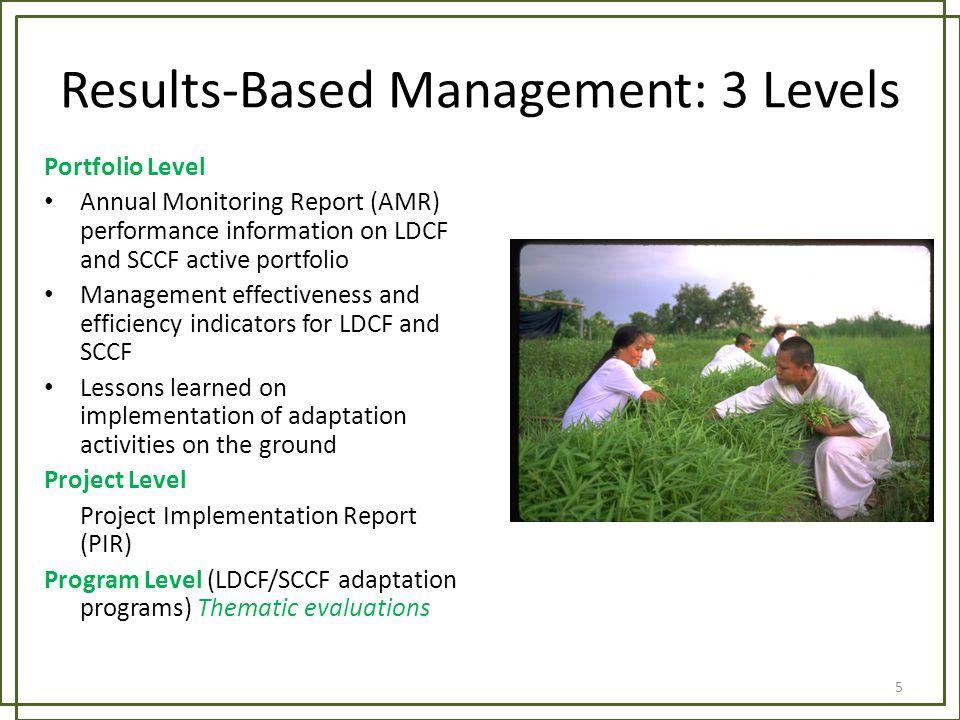 Results-Based Management: 3 Levels