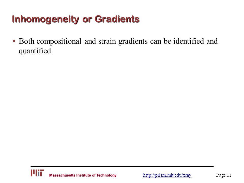Inhomogeneity or Gradients