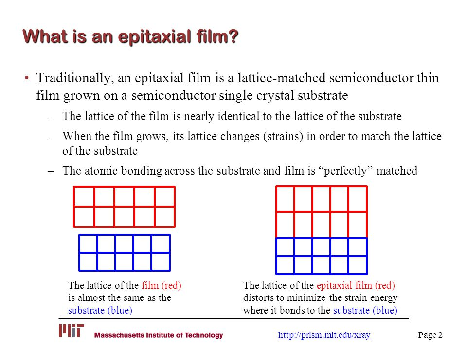 What is an epitaxial film